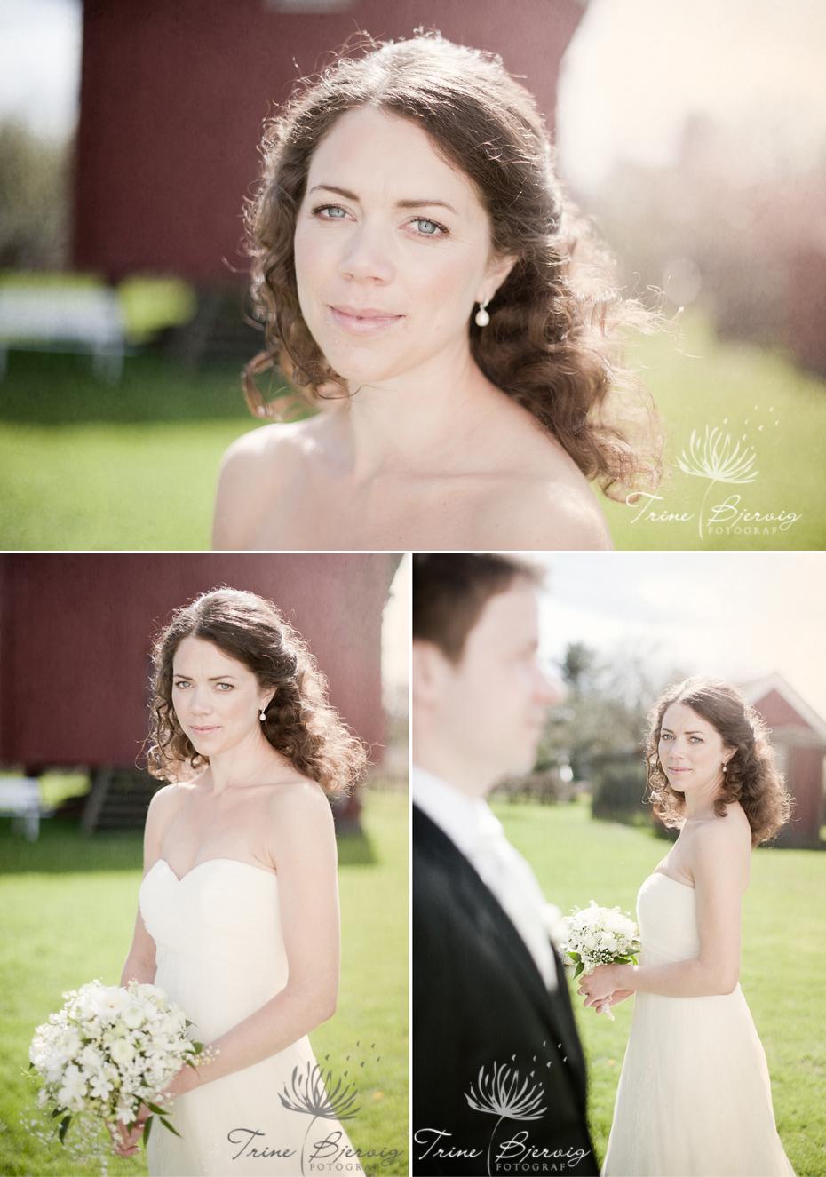 bryllupsbilder fra fossholm herregård - fotografert av bryllupsfotograf Trine Bjervig , Tønsberg, vestfold