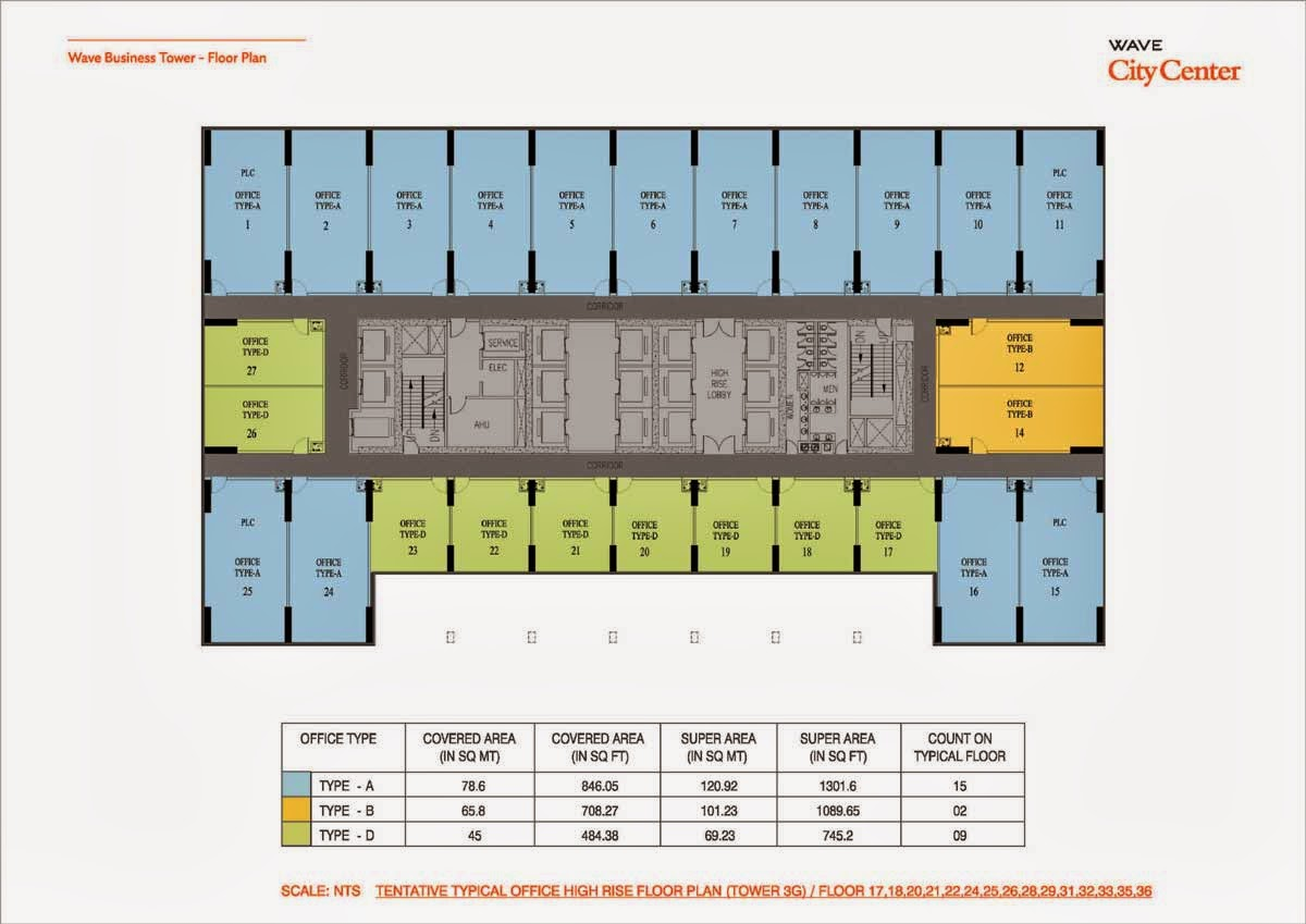 Wave Business Tower Floor Plan  Tower 3G 17,18,20, Floor Plan