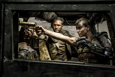 Tom Hardy and Charlize Theron in Mad Max Fury Road