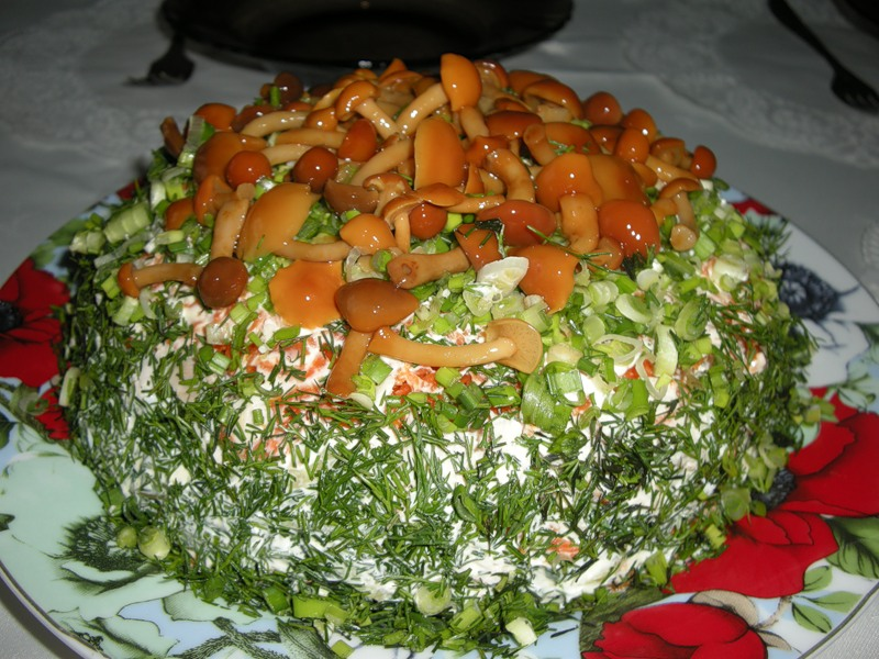 салаты с фото грибы