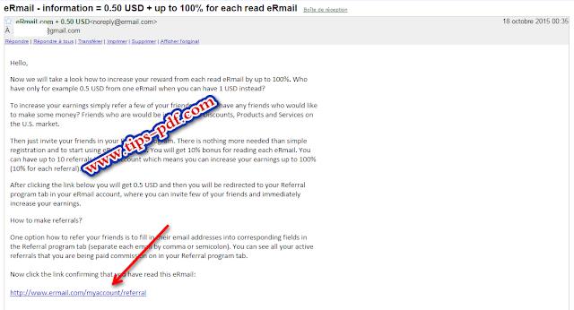 e-mail الربح من قراءة رسائل البريد الالكتروني