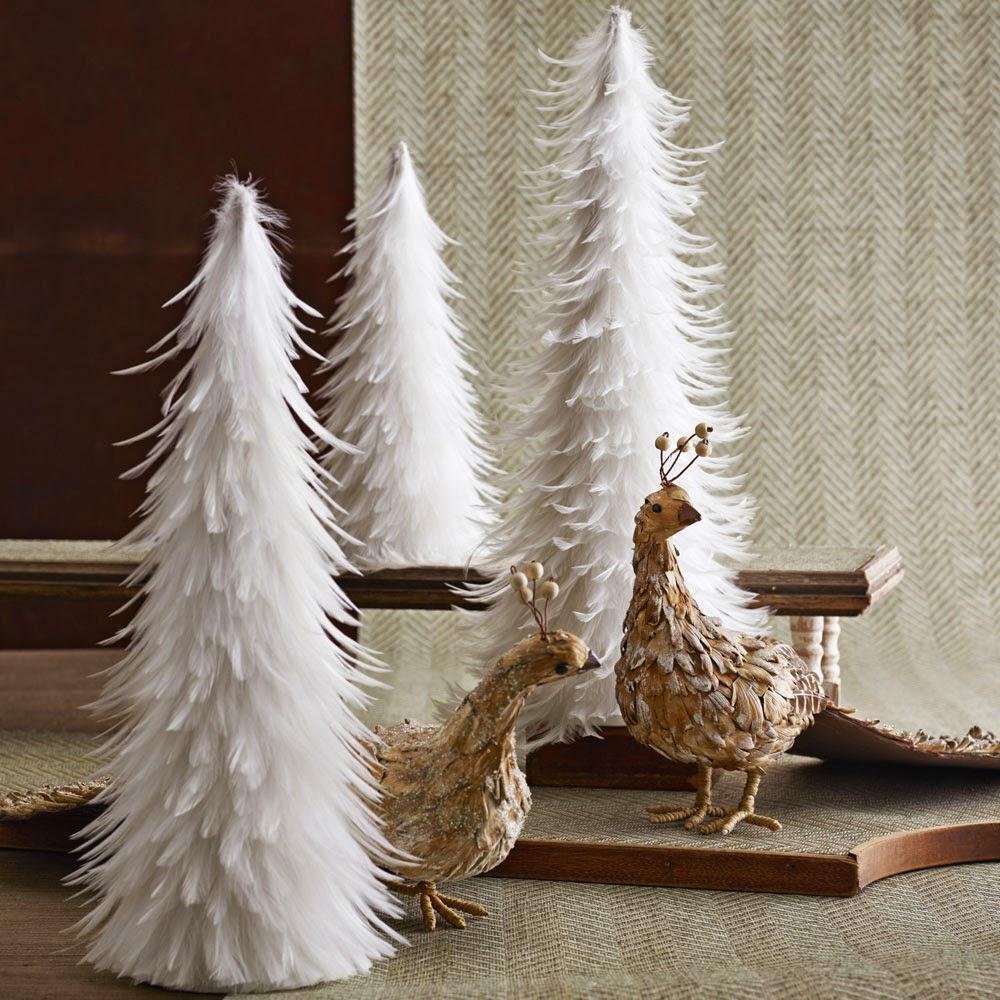 Snowy white christmas trees modern design by Modern christmas