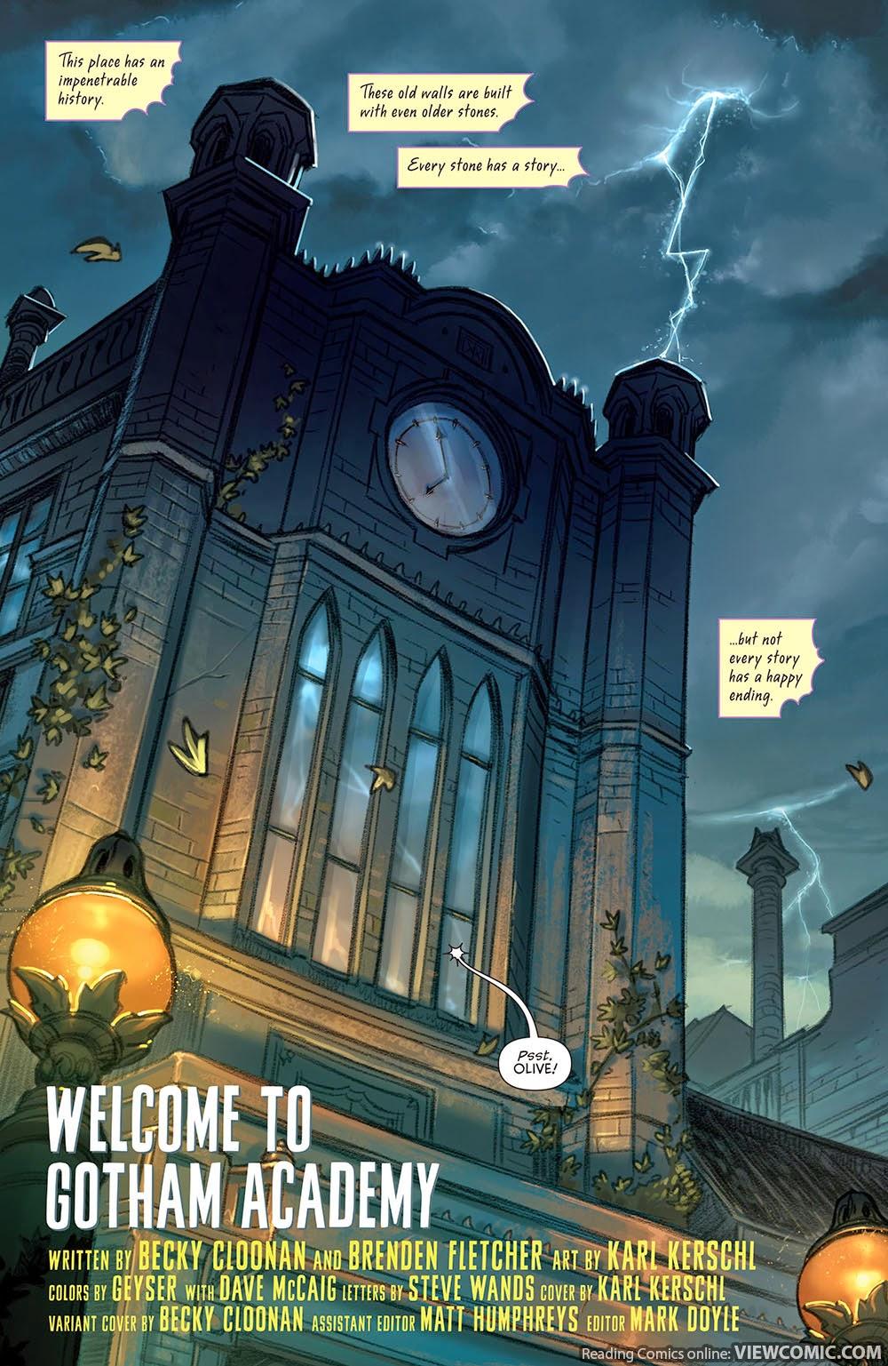 Gotham Academy 001 (2014) ……………………