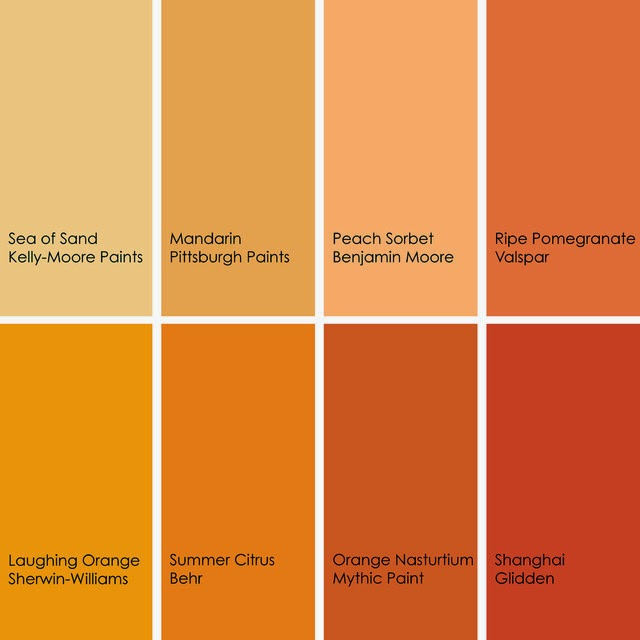Orange is an energizing color for Fall and Winter. Pick out a shade you  like and ENJOY!