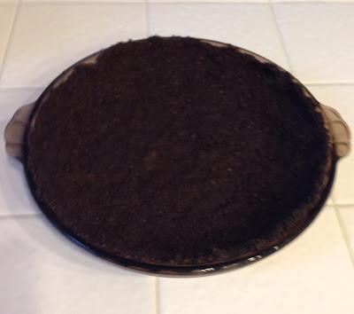 Cookie pie crust for Peppermint Fudge Pie