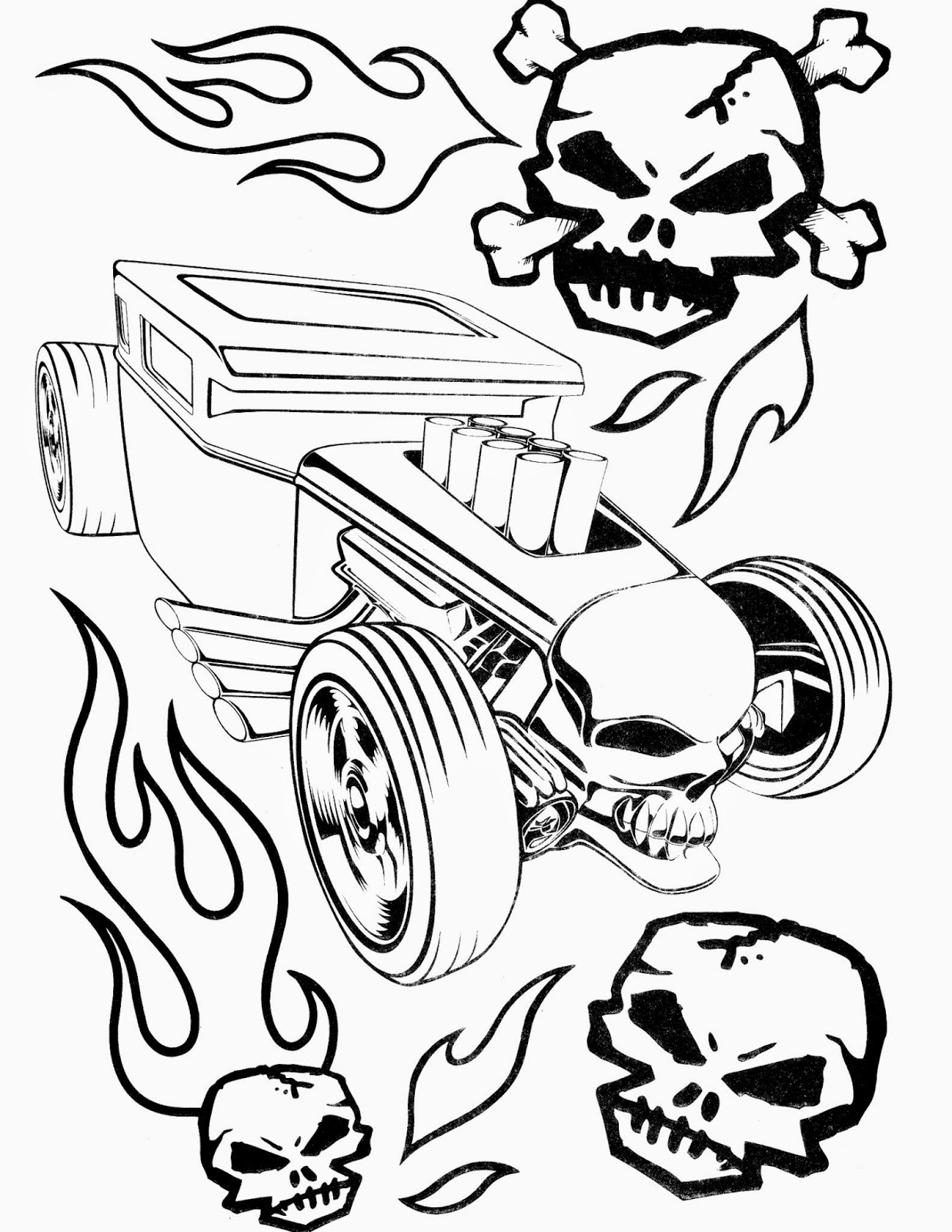 Hot Wheels Coloring Pages 77