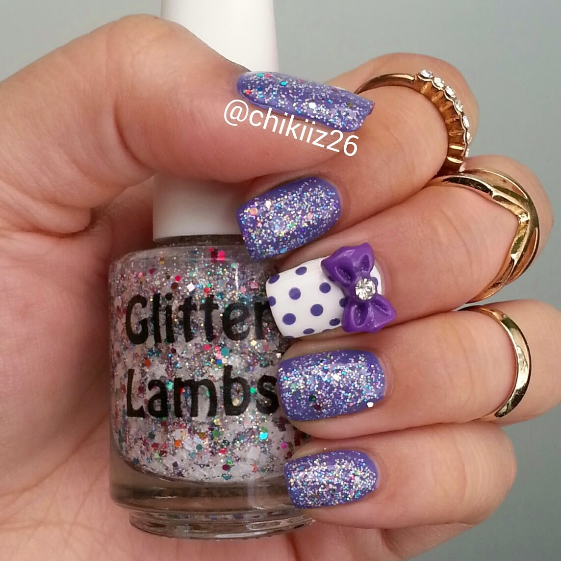 Unicorns Love Sugar Cubes Glitter Lambs Nail Polish Worn by @Chikiiz26