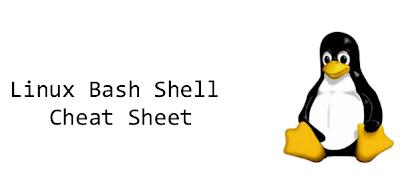 Linux Bash Shell Cheet Sheet