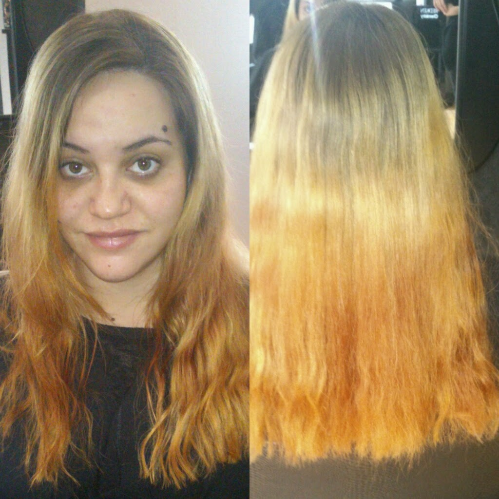 Un cambio de color sobre cabello decolorado for Color marmoleado para cabello