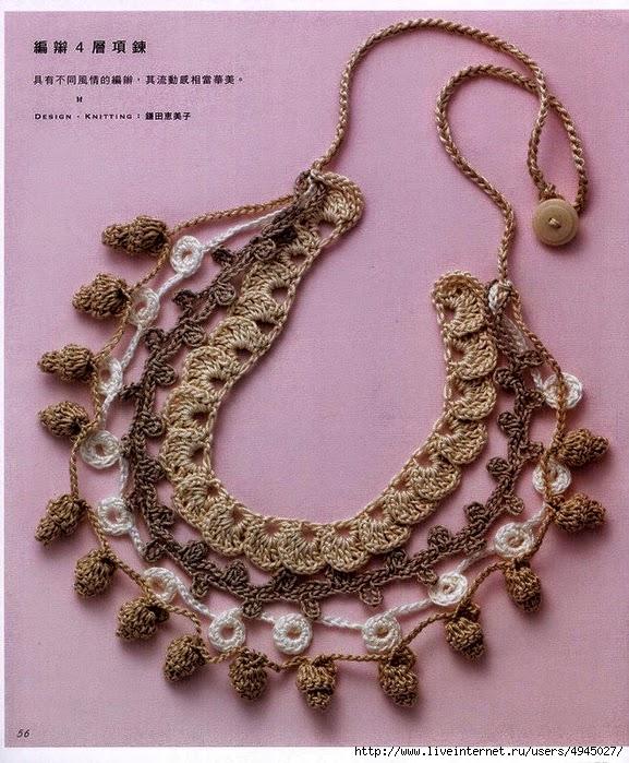 Accesorio de moda: Collar al crochet con patrón