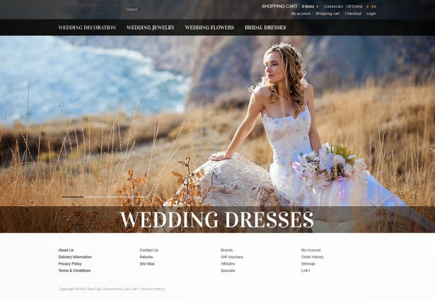 Wedding Dresses ZenCart Template