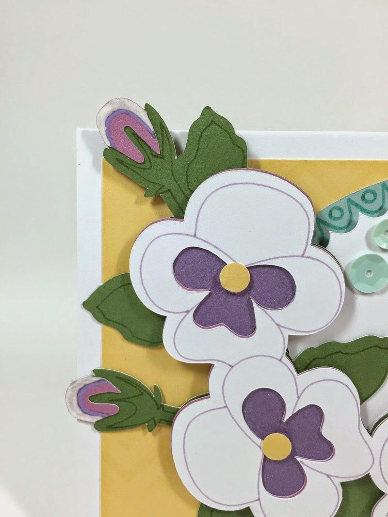Cricut Happy Pansy card