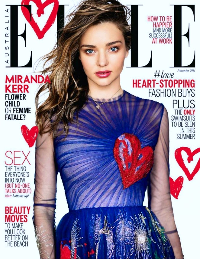 Miranda Kerr covers Elle Australia November 2014 in a Valentino design