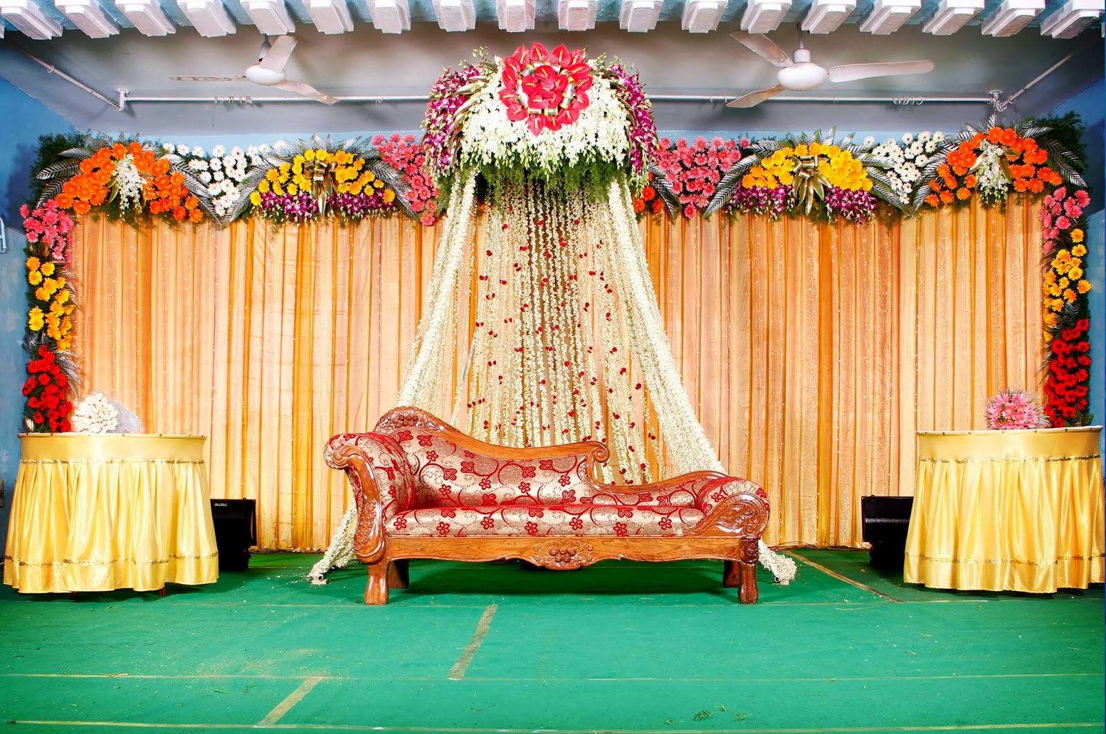 Wedding stage background luckystudio4u for Background decoration for indian wedding
