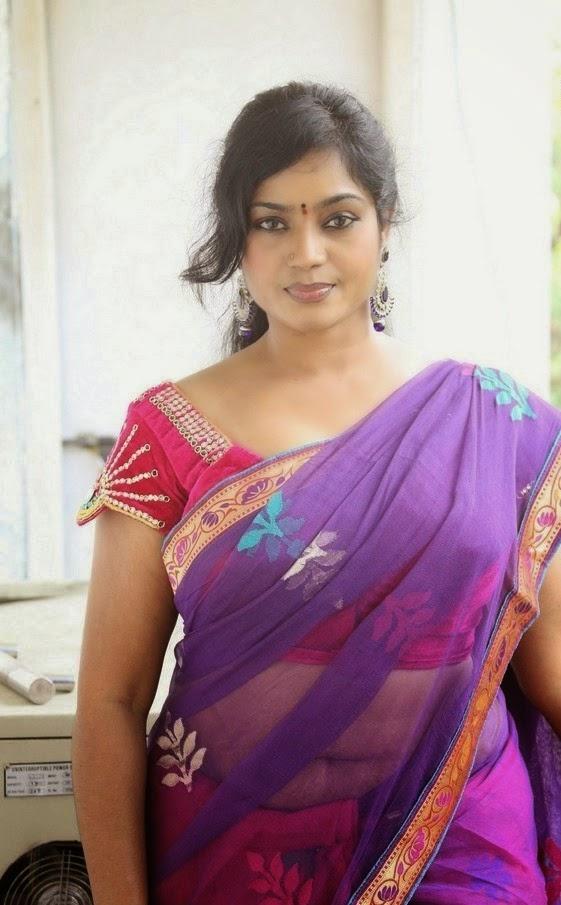 Jayavani Hot Cleavage Photos in Sexy Saree - CAP