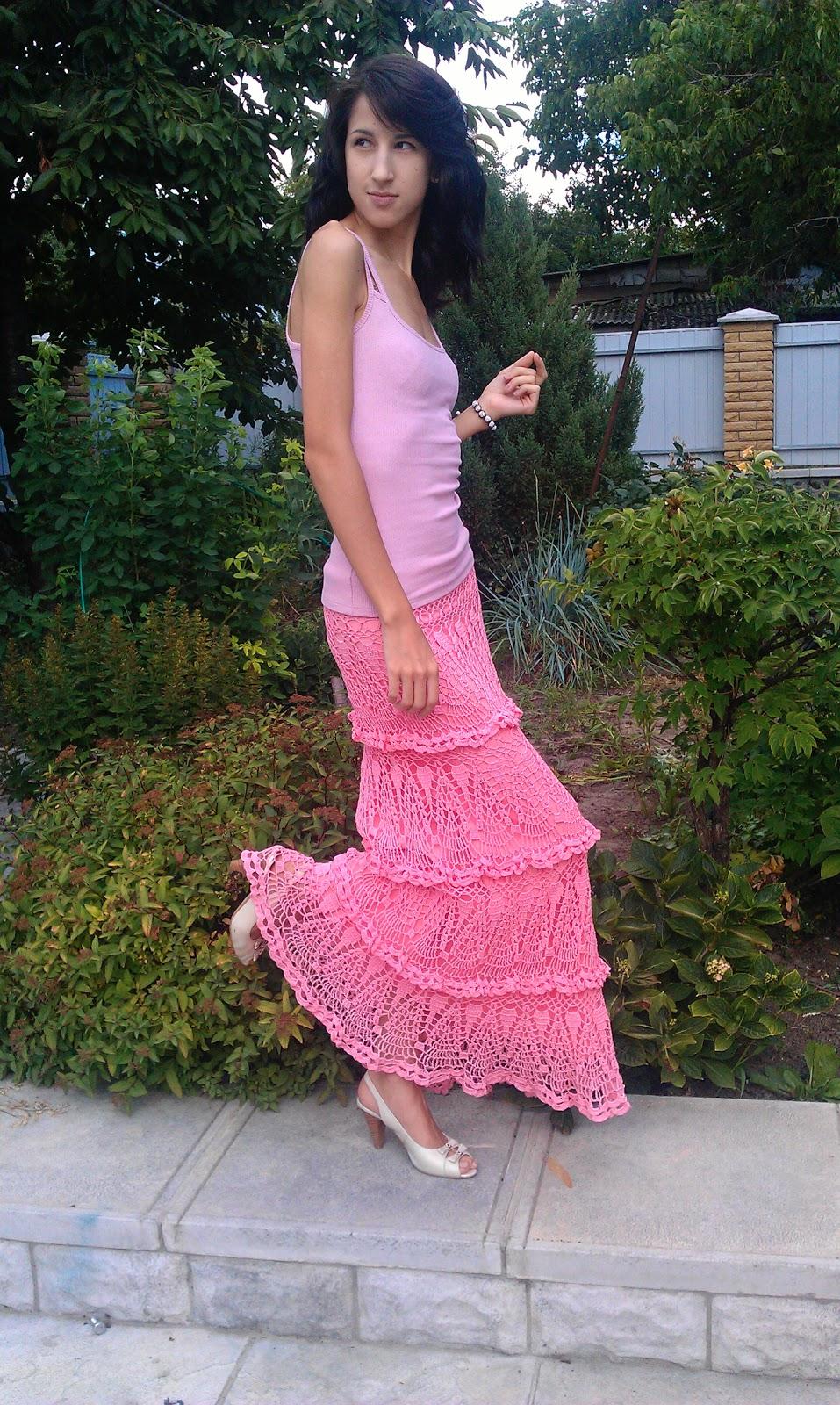 платье схема филейного вязания
