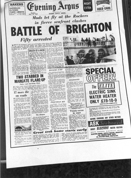 mods and rockers brighton. Moral Panic
