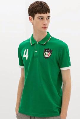 camisa polo bandeira México da Zara para Copa do Mundo 2014