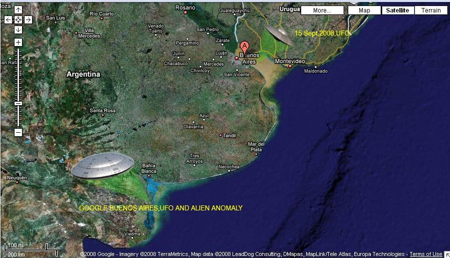 Update Google Earth Revealed UFO And Alien Anomaly Buenos Aires - Argentina map google earth