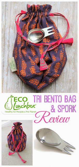 ECOlunchbox Tri Bento bag and spork Review - mamabelly.com