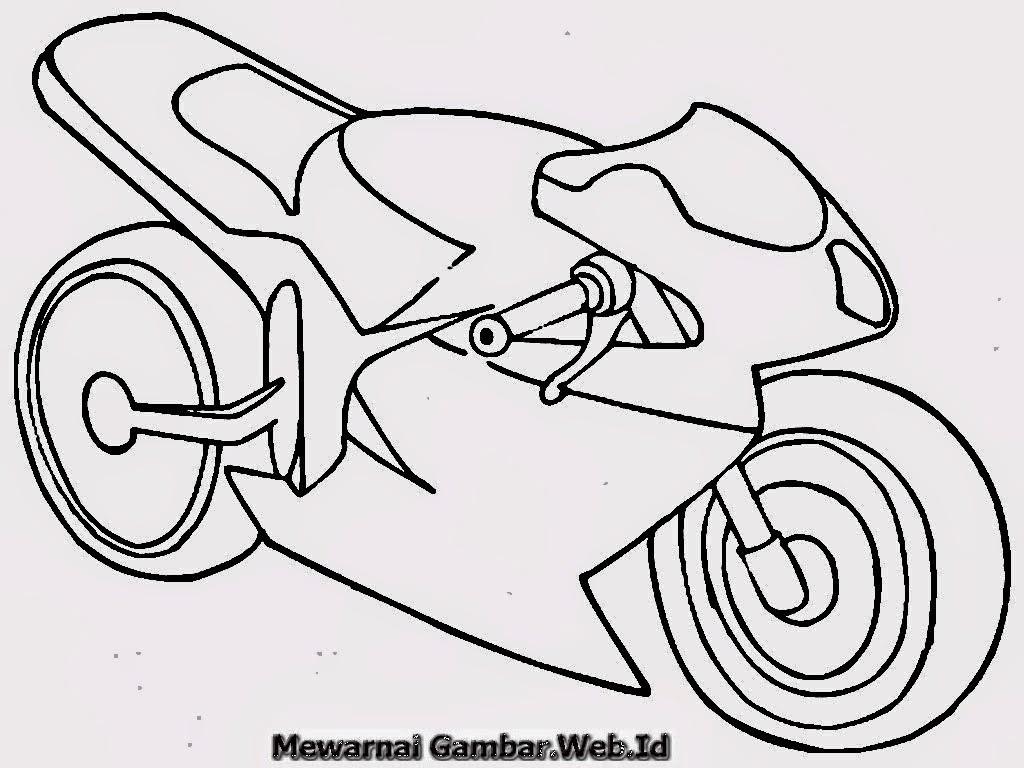 Kumpulan Gambar Sepeda Motor Untuk Mewarnai Terbaru