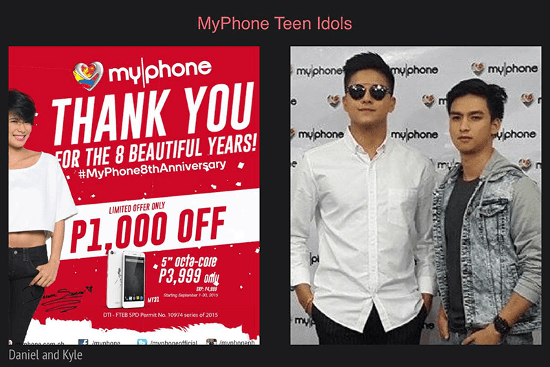 TEEN KING DANIEL PADILLA AND TEEN PRINCE KYLE VERGARA FOR MYPHONE!