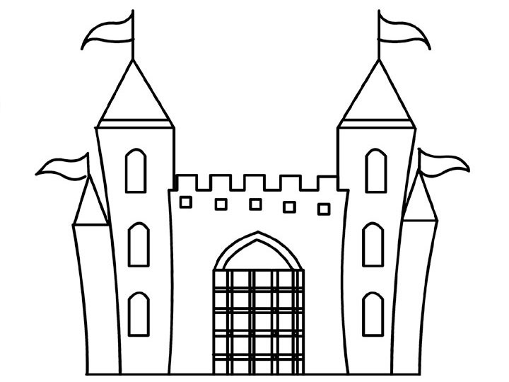 free coloring pages of castles - photo#12