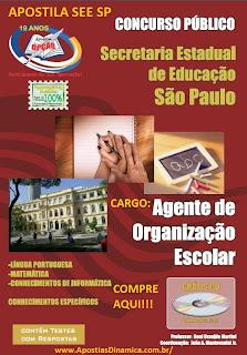 Apostila Secr. Da Educação/SP Agente De Organização Escolar (SEE-SP).