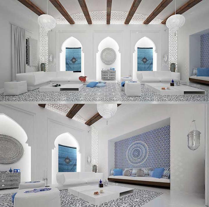 Hermoso dise o de interiores de villa marroqu casas ideas - Diseno de interiores ideas ...
