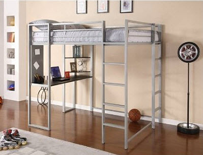 Kids loft bed with desk: Dorel Home Products Abode Full Size Loft Bed