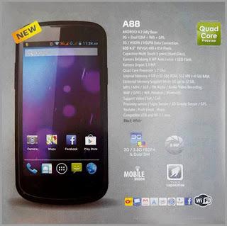 Spesifikasi dan Harga Smartphone Murah Cross A88 Terbaru