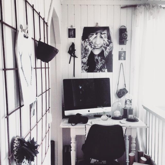 arbetshörna, inredning, interiör, monami frost, posters, prints,
