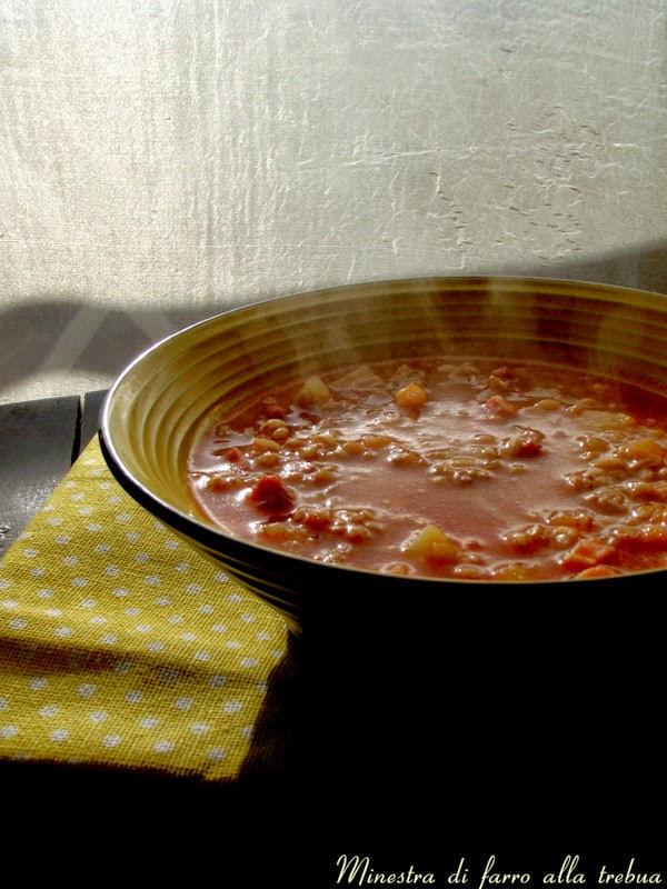 la minestra di farro alla trebua e vorrei che la vita fosse una zuppa