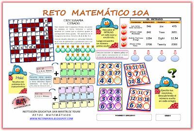 Retos Matemáticos, Problemas Matemáticos, Problemas de Ingenio, Problemas de Ingenio Matemático, Desafíos Matemáticos