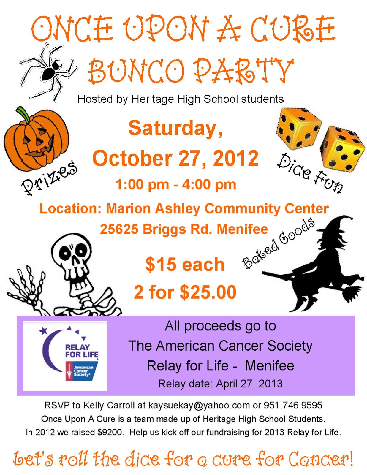 bunco party set to raise funds for relay for life menifee bunco party set to raise funds for relay for life menifee menifee 24 7