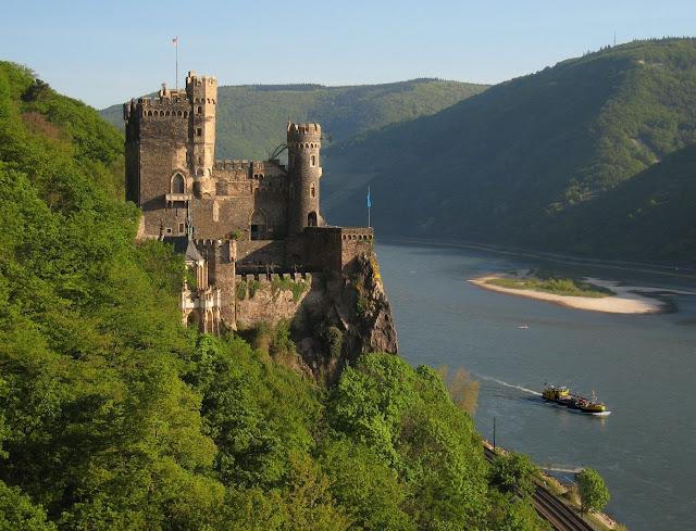 The Rheinstein Castle in Rüdesheim, Germany. Photo: © Ruedesheim Tourist AG. Unauthorized use is prohibited.
