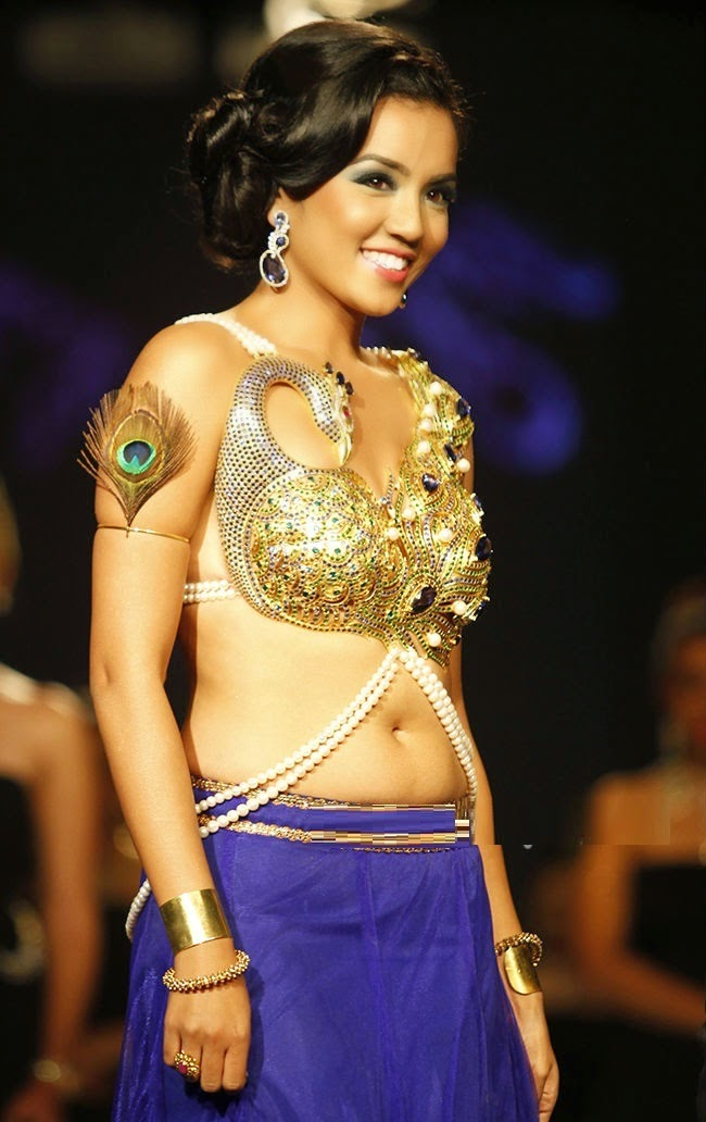 Bejeweled bra: gold, precious and semi-precious stones