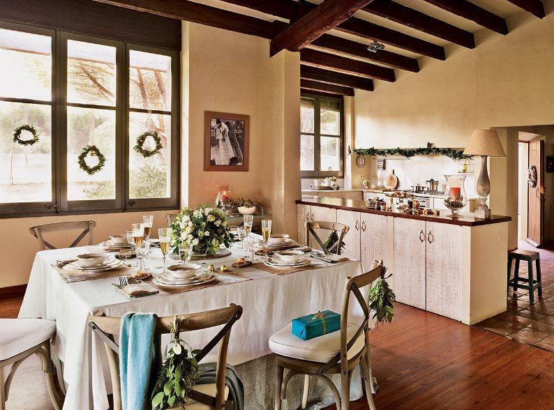 Una masia ampurdanesa vestida de navidad christmas in - Casas decoradas con encanto ...