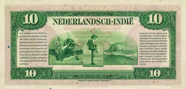 uang kuno 10 rupiah 1943 seri NICA