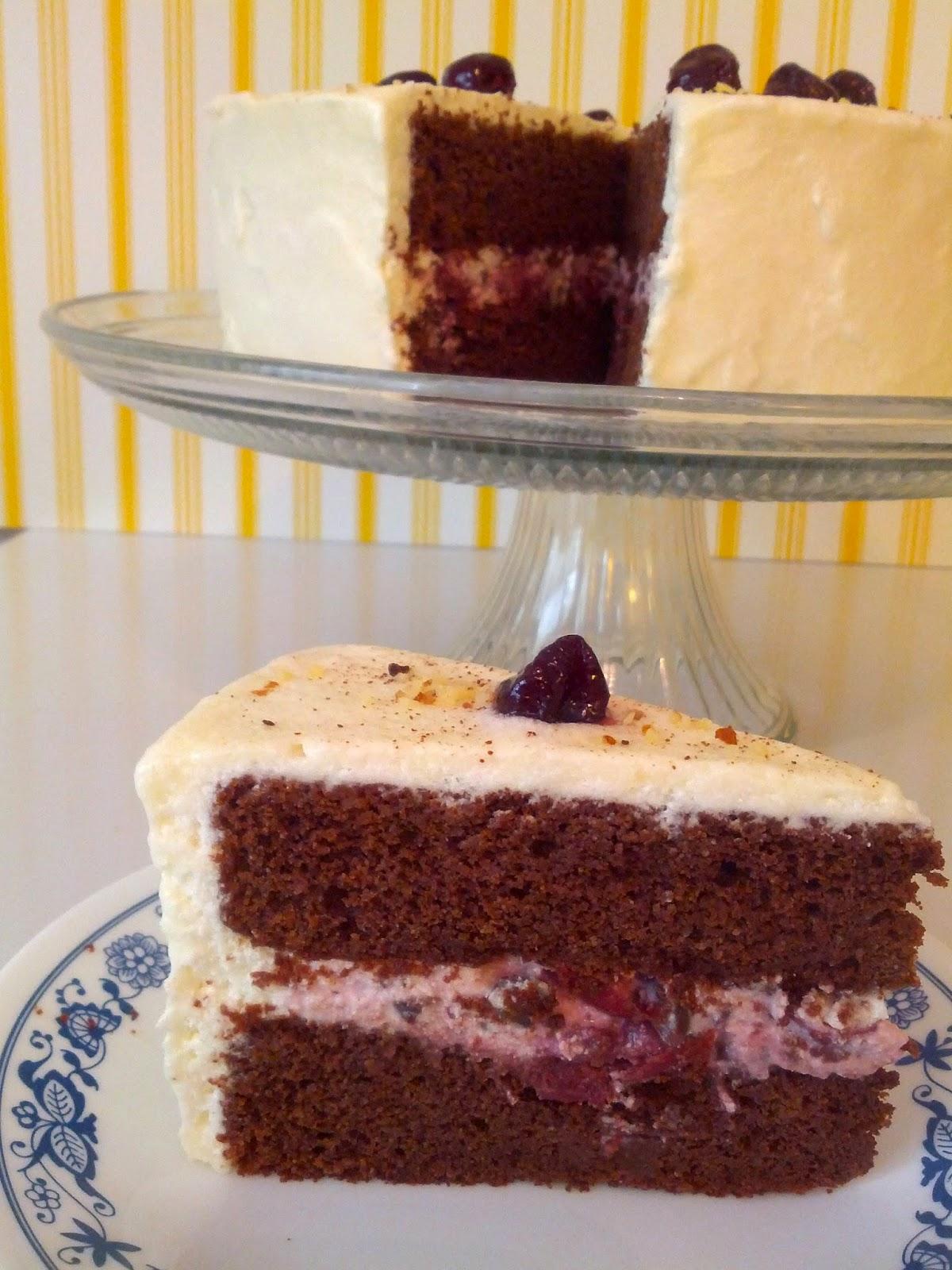 Chocolate Cherry Torte Cake Recipe