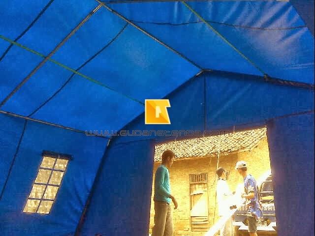 Tenda posko, Jual tenda BNPB, Tenda pengungsian tanpa tiang tengah