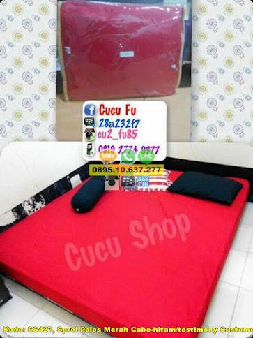 Sprei Polos Merah Cabe-hitam/testimony Customer/uk