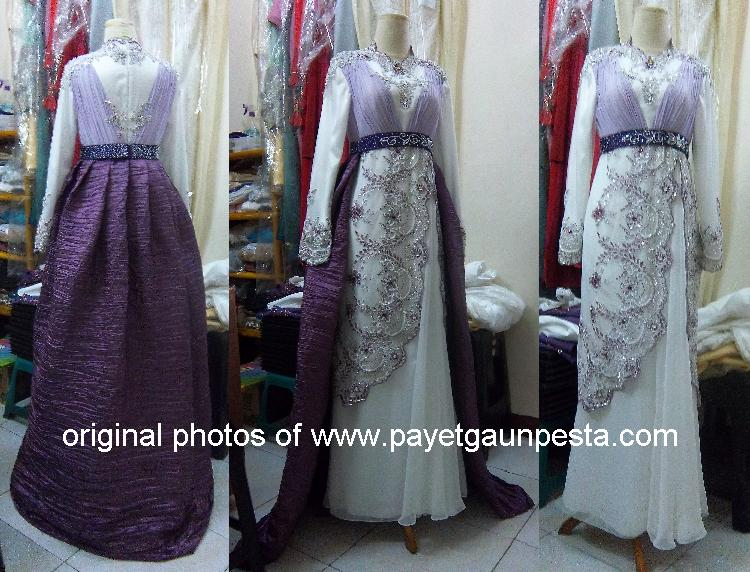Picture of Payet Gaun Pesta Abaya Pengantin Muslim Semi Dress Brokat