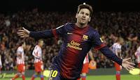 Leo Messi consiguió un doblete frente al Atleti