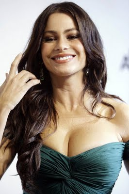 Sofia Vergara Long Brunette Hairstyle 2011 Trends
