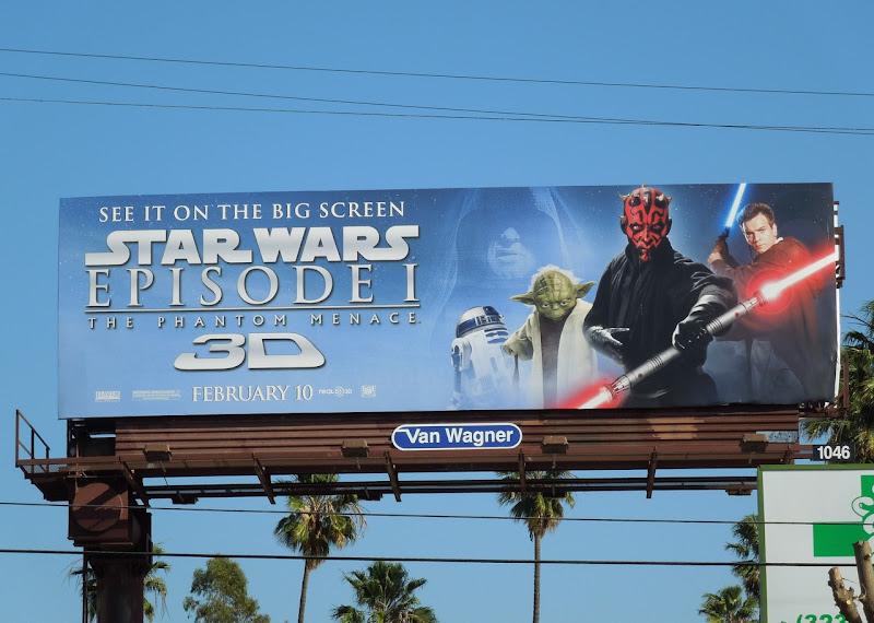 Star Wars Phantom Menace Darth Maul billboard