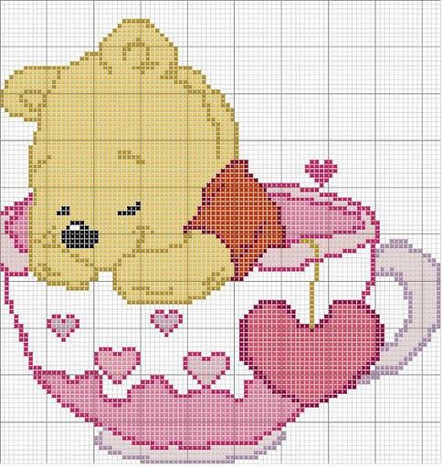 Mondo mamma schemi punto croce winnie the pooh parte 1 for Winnie the pooh punto croce schemi