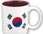 Tienda de objetos con la bandera de Corea