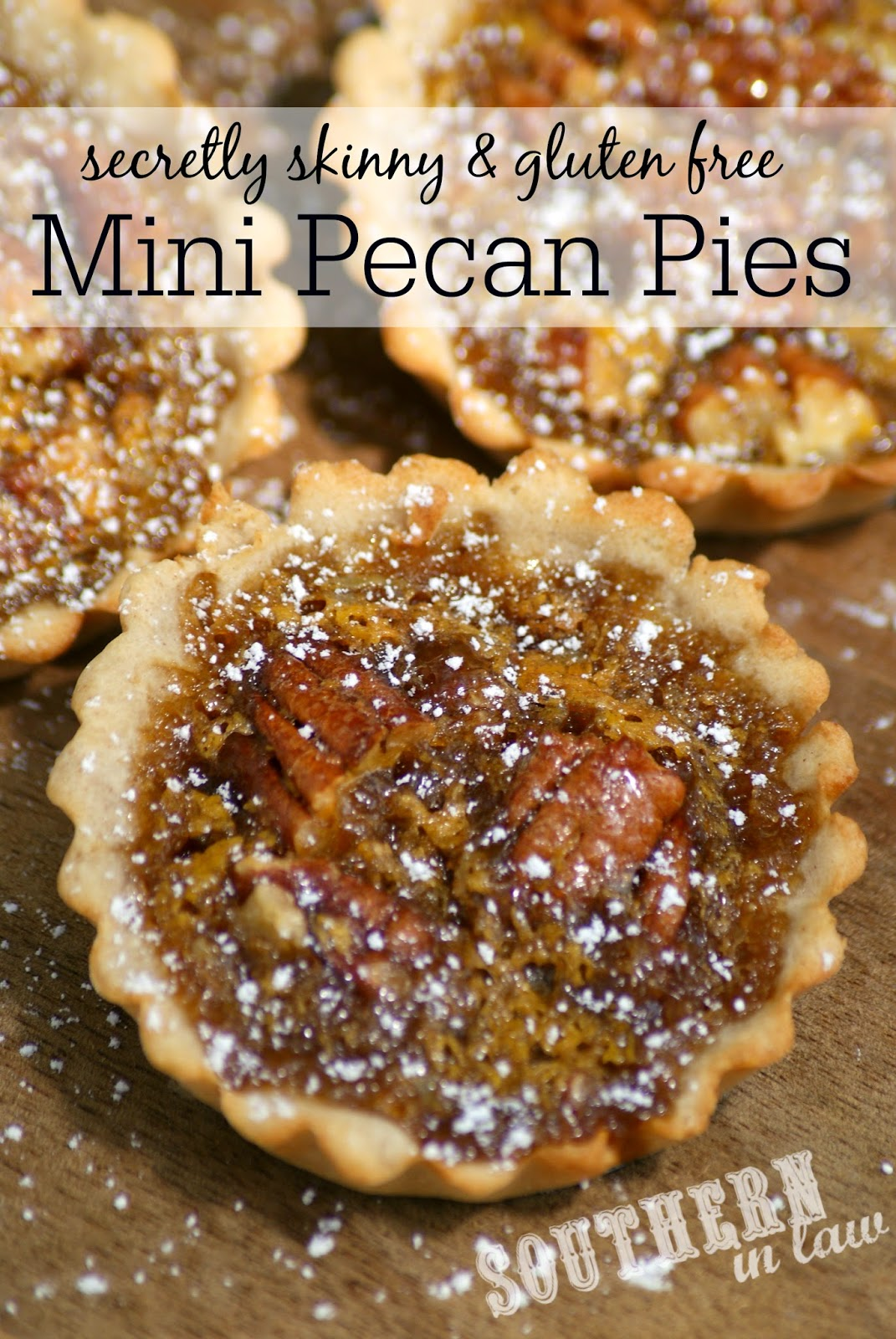 Healthier Mini Pecan Pies Recipe - Low fat, gluten free, lower sugar, easy to make