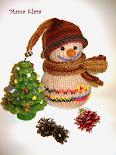 Вяжем снеговичка с Мамой Кларой
